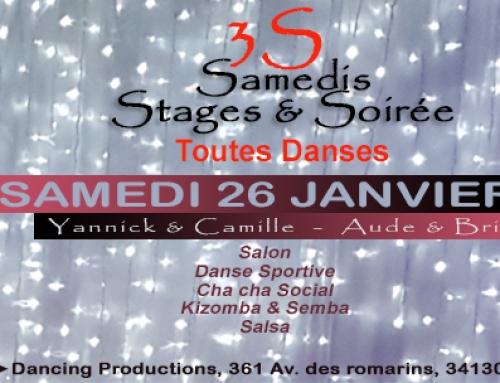 Janvier 2019 : stages & soirée Toutes danses
